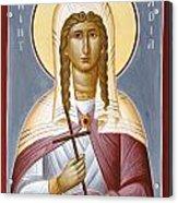 Saint Nadia - Hope Acrylic Print by Julia Bridget Hayes