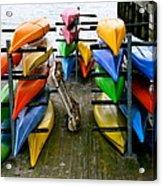 Salma Kayaks Acrylic Print