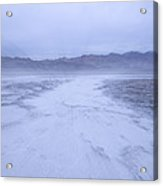 Salt Flats Appear Blue When Shot Acrylic Print