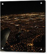 Salt Lake City At Night Acrylic Print