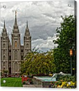 Salt Lake City Temple Grounds Acrylic Print