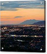 Salt Lake Nightscape Acrylic Print