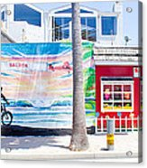 Salt Water Taffy Panorama Balboa California Acrylic Print