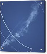 Salto Stunt Glider Doing A Loop Whilst Acrylic Print