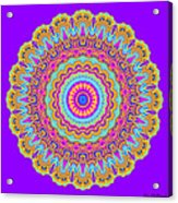 Saltwater Taffy Mandala Acrylic Print