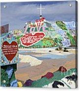 Salvation Mountain California 2 Acrylic Print