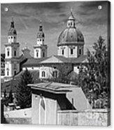 Salzburg Black And White Austria Europe Acrylic Print