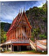 Sam Roi Yot Temple Acrylic Print
