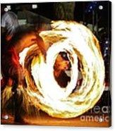 Samoan Fire Dancer Acrylic Print