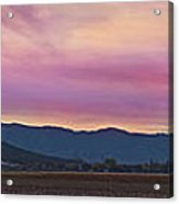 Sams Valley Panoramic Sunset Acrylic Print