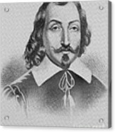 Samuel De Champlain Acrylic Print by Photo Researchers