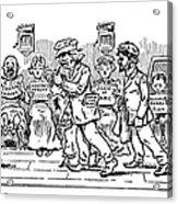 Samuel L. Clemens Cartoon Acrylic Print