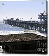 San Clemente Pier California Acrylic Print by Clayton Bruster