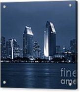 San Diego At Night Acrylic Print by Paul Velgos