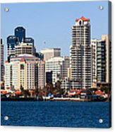 San Diego Buildings Photo Acrylic Print by Paul Velgos