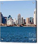 San Diego Skyline Buildings Acrylic Print by Paul Velgos
