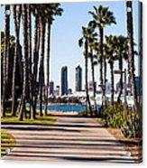 San Diego Skyline With Coronado Island Bayshore Bikeway Acrylic Print