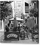 San Francisco - Maiden Lane - Outdoor Lunch At Mocca Cafe - 5d17932 - Black And White Acrylic Print