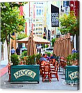 San Francisco - Maiden Lane - Outdoor Lunch At Mocca Cafe - 5d17932 - Painterly Acrylic Print