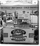 San Francisco - Stanley's Steamers Hot Dog Stand - 5d17929 - Black And White Acrylic Print
