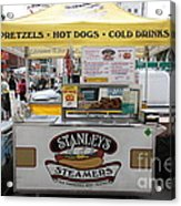 San Francisco - Stanley's Steamers Hot Dog Stand - 5d17929 Acrylic Print by Wingsdomain Art and Photography