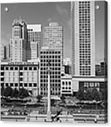 San Francisco - Union Square - 5d17941 - Black And White Acrylic Print