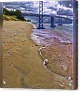 San Francisco Bay Bridge And Beach Acrylic Print