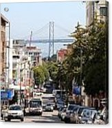 San Francisco Bay Bridge Through Chinatown Acrylic Print