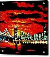San Francisco By Black Light Acrylic Print