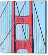 San Francisco Golden Gate Bridge . 7d7809 Acrylic Print