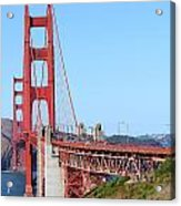 San Francisco Golden Gate Bridge . 7d8157 Acrylic Print by Wingsdomain Art and Photography