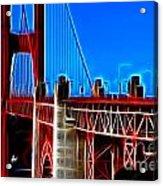 San Francisco Golden Gate Bridge Electrified Acrylic Print