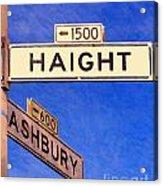 San Francisco Haight Ashbury Acrylic Print