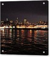 San Francisco Night View From The Ocean Acrylic Print
