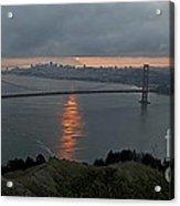 San Francisco On Cloudy Sunrise Acrylic Print by Matt Tilghman