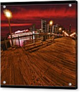San Francisco Red Sky Pier Acrylic Print
