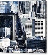 San Francisco Skyline-grunge Acrylic Print