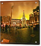 San Francisco Union Square Xmas Acrylic Print