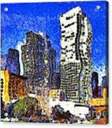 San Francisco Yerba Buena Garden Through The Eyes Of Van Gogh . 7d4262 Acrylic Print