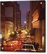 San Francisico Street Acrylic Print by Thomas Luca