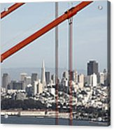 San Francisco Through The Cables Acrylic Print