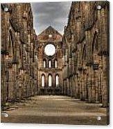 San Galgano  - A Ruin Of An Old Monastery With No Roof Acrylic Print