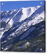 San Juan Mountains Covered In Snow Acrylic Print