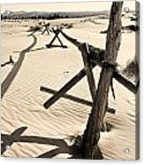 Sand And Fences Acrylic Print by Heather Applegate