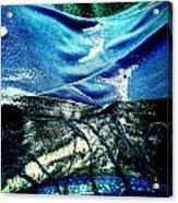 Sand And Shells On Dress Acrylic Print