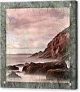 Sand Beach In Texture Acrylic Print