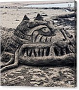Sand Dragon Sculputure Acrylic Print