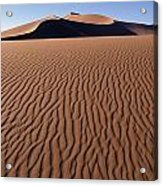Sand Dunes Against Clear Sky Acrylic Print