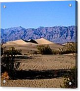 Sand Dunes In Death Valley Acrylic Print