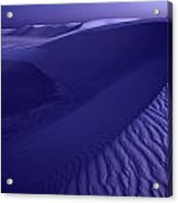 Sand Dunes. These Dunes Form When Solid Acrylic Print